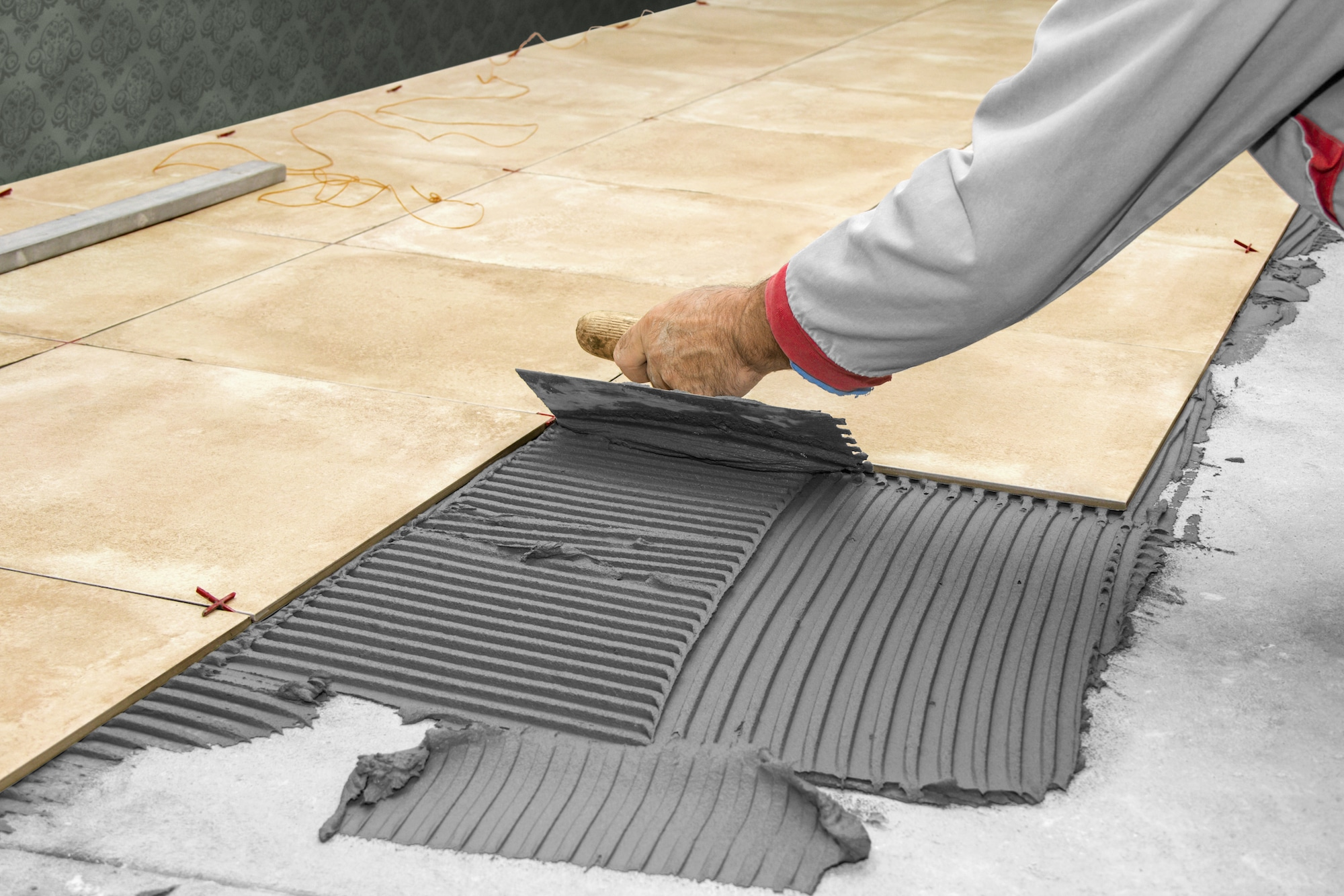 How do you install tile flooring